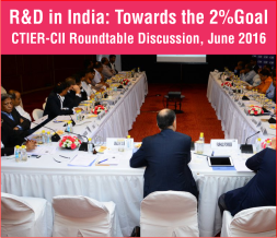 R&D in India: Towards the 2% Goal CTIER-CII Roundtable Discussion, June 2016